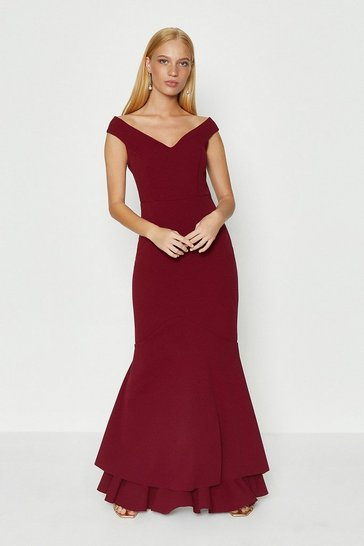 Merlot Fishtail Maxi Dress