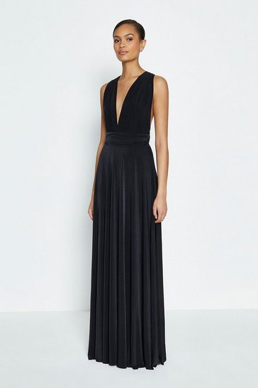 Black Multiway Jersey Maxi Dress