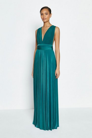 Dark green Multiway Jersey Maxi Dress