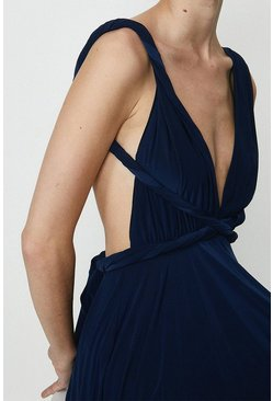 Navy Multiway Jersey Maxi Dress