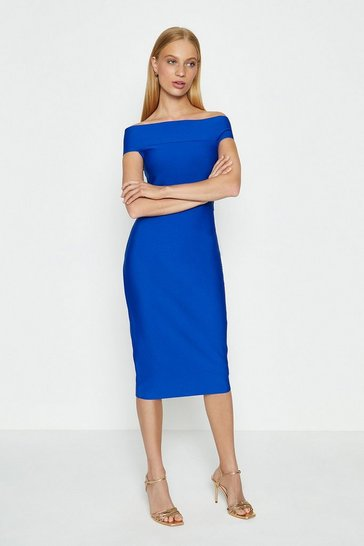 Cobalt Bardot Shift Dress