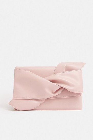 Pink Bow Clutch Bag