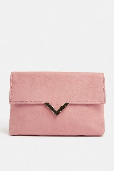 Rose V Hardware Detail Clutch Bag
