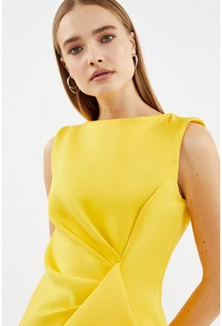 Yellow Scuba Ruffle Top
