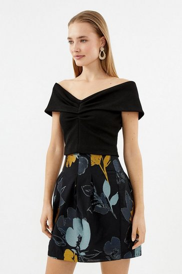 Blue Tulip Shape Skirt