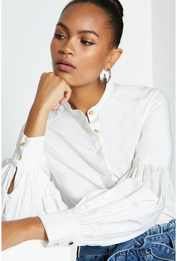 Ivory Puff Sleeve Shirt