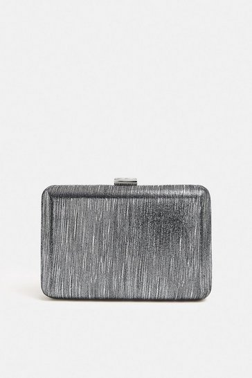 Gun metal Shimmer Box Bag