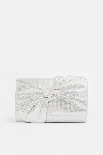 Silver Shimmer Bow Bag