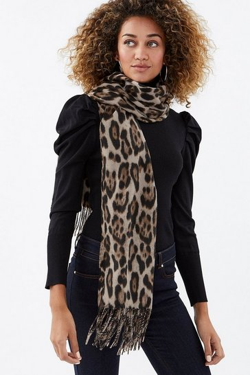 Natural Animal Print Scarf