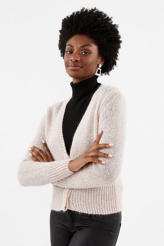 Blush Sequin Knit Cardigan