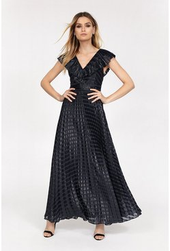 Navy Sparkle Burnout Maxi Dress