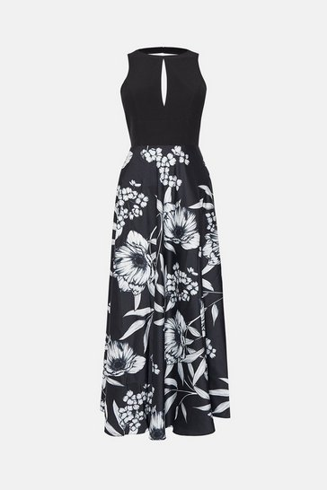 Blackwhite Print Skirt Maxi Dress