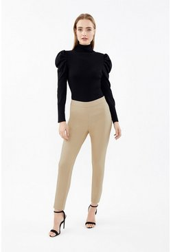 Stone Essential Cotton Sateen Cropped Trousers