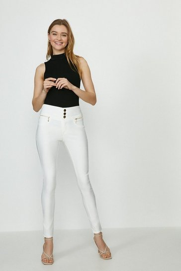 Ivory Berlin Coated Jean