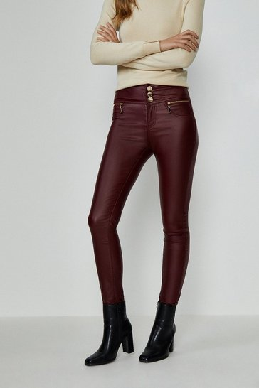 Merlot Berlin Coated Jean