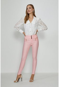 Pink Berlin Coated Jean