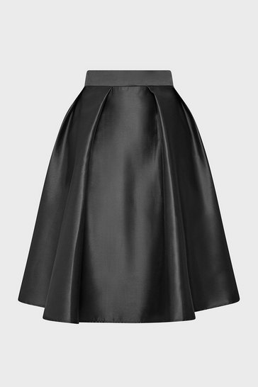 Black Full A-Line Skirt