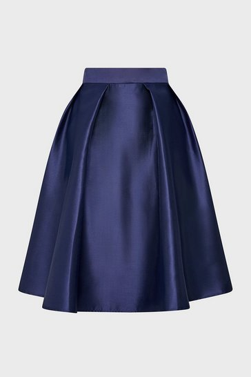 Navy Full A-Line Skirt