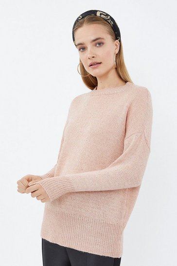 Blush Longline Sequin Jumper