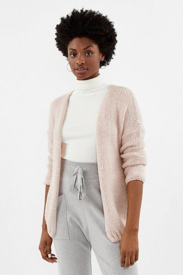 Blush Fluffy Belted Cardigan