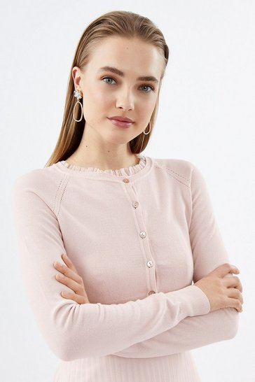 Blush Cropped Cardigan