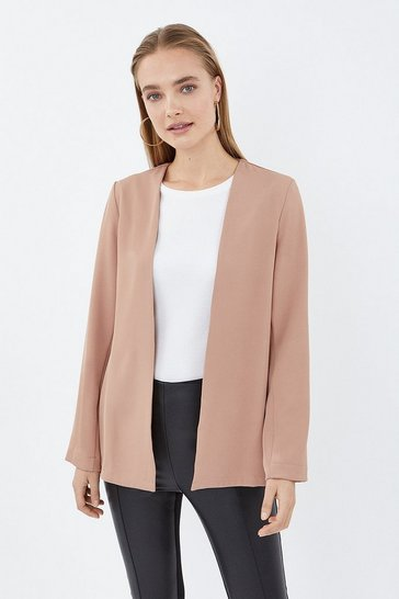 Blush Split Side Tab Back Jacket