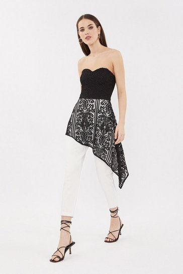 Blackwhite Bandeau Lace Jumpsuit