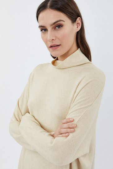 Oatmeal Soft Yarn Long Sleeve Oversized Jumper