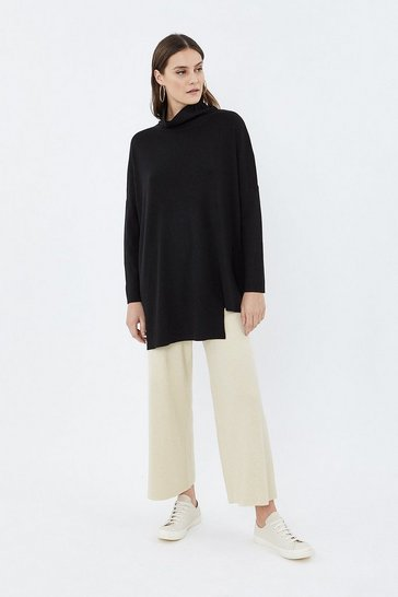 Oatmeal Soft Yarn Wide Leg Knit Trouser