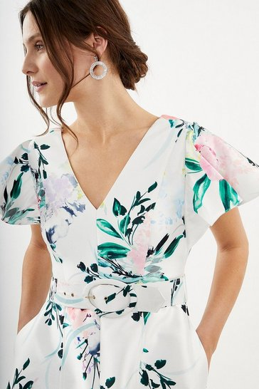 Multi Belted Full Midi Dress