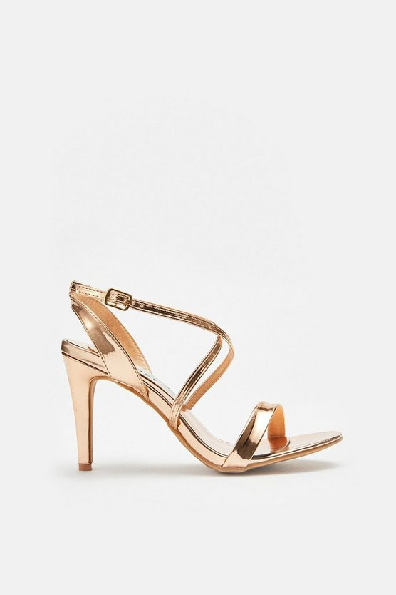 Rose gold Metallic Strappy Sandal