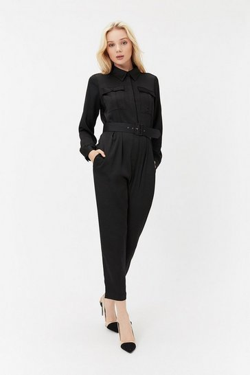 Black Boiler Suit Jumpsuit