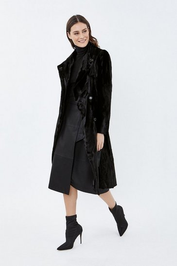 Black Pony Coat