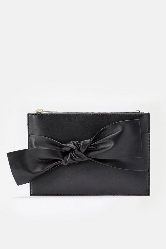 Black Bow Pouch Bag