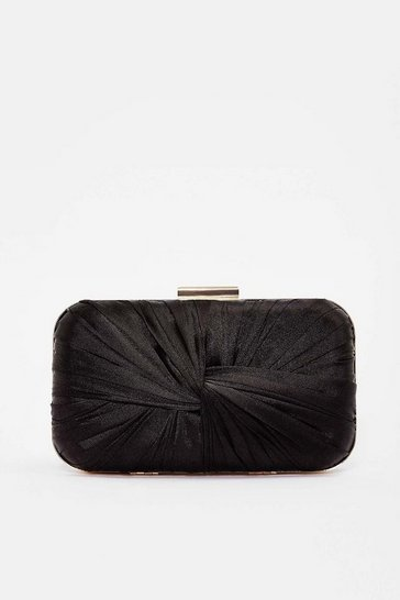 Black Satin Twist Bag