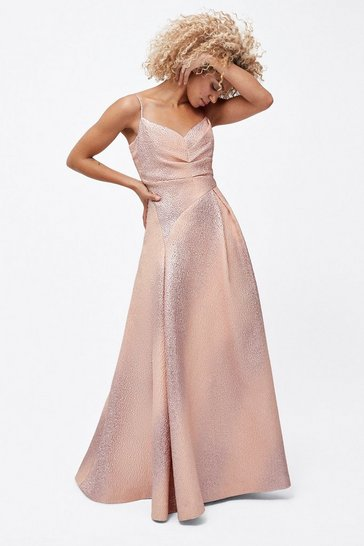 Multi Rose Gold Maxi Dress
