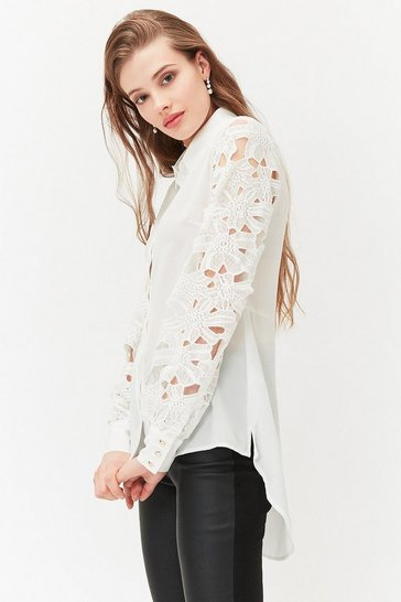 Ivory Interest Sleeve Shirt