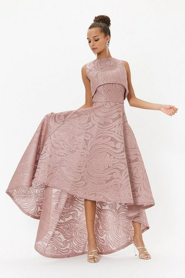 Blush Baroque Layered Maxi Dress
