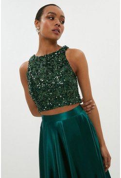 Forest Sleeveless Sequin Top
