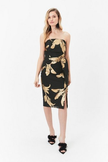 Multi Jacquard Bandeau Dress