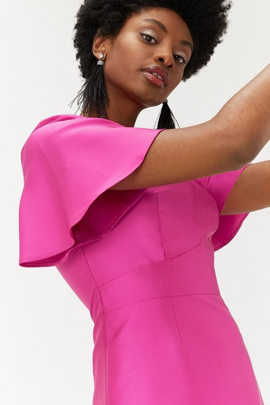 Magenta Curve Pop On Dress