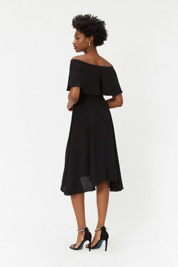 Black Curve Soft Bardot Dress