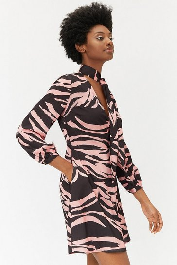Womens Multi Zebra Print Dress