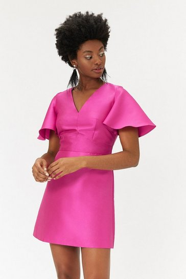 Womens Magenta Pop On Dress