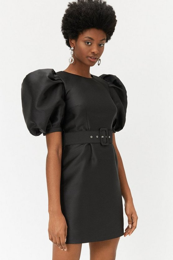 Black Shrimp Sleeve Dress