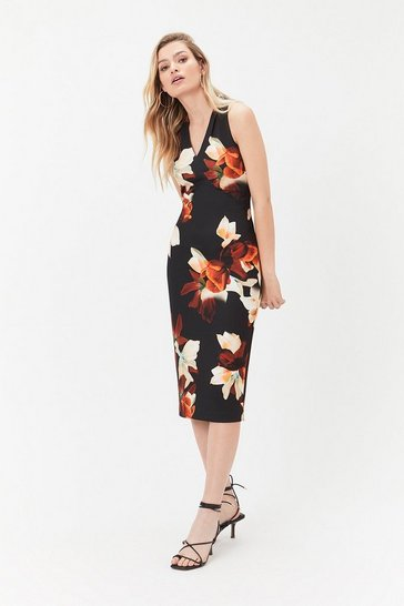 Multi Print Scuba Shift Dress