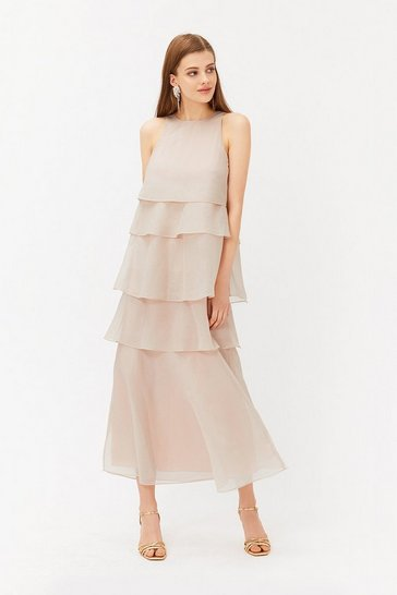 Blush Tiered Organza Dress