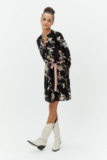 Multi Oriental Print Tunic Dress
