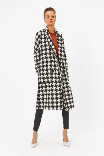 Black & Ivory Dogtooth Coat