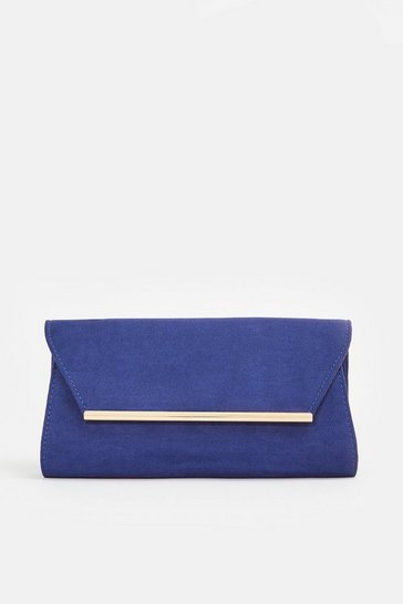 Cobalt Gold Bar Envelope Bag